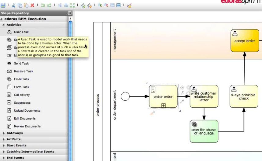 Process Modeller has a full featured web based interface